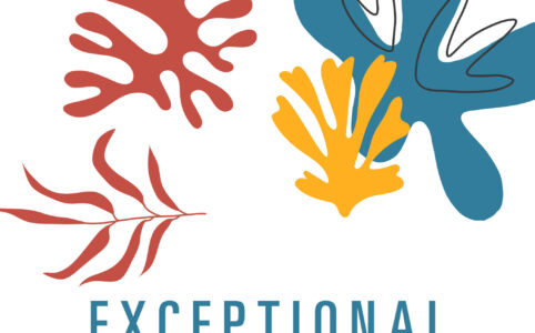 Colorful shapes above text that reads: Exceptional Creativity